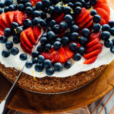 Gluten-Free Almond Cake with Berries on Top