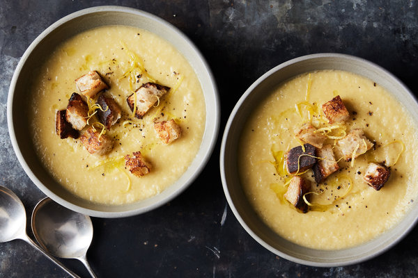 Creamy Cauliflower Soup With Rosemary Olive Oil